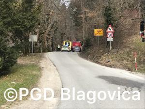 Intervencija - Prometna nesreča Brdo pri Lukovici