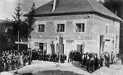 Otvoritev gasilskega doma v letu 1953.